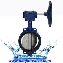 tianjin engranaje operado tipo wafer válvula de mariposa de los fabricantes