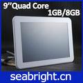 La parte superior 2013 vendedor 9 atm7029 pulgadas núcleo qual tablet pc androide 4.1 1gb/8gb