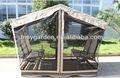 jardín al aire libre en el interior mirador mecedora silla y mesa