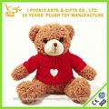 Personaliza suave peluche camiseta del oso de peluche de felpa de San Valentín de juguete