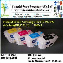 de impresión de tinta recargables para hp cartucho de 800