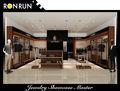 Atractivos lujosos personalizados muebles para almacén de ropa con artesanía de acero