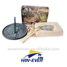 reloj de sol romana de excavación kits de juguete