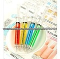 Pluma de la jeringuilla de plástico de calidad buena pluma bolígrafo