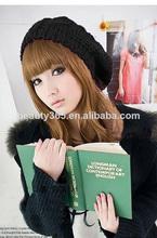 inverno quente da boina mulheres trançado baggy crochet boné chapéu atacado malha de lã personalizado gorros