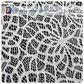 de alta calidad de nylon blanco de tela de encaje adornado de tela de encaje con el mejor precio de shaoxing