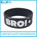 Recuerdo 1 pulgadas de marca de goma de silicona pulsera, personalizado grabado& el logo grabado