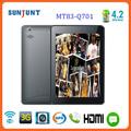 2014 Fábrica de vendas diretas 7in traseira câmera 5.0mp gps bluetooth 3g chamada mtk8389 tablet barata