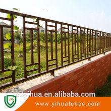 yihua de bajo precio de la parte superior plana de acero galvanizado valla manufac