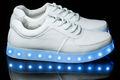 llevó la luz hasta los adultos zapatos para los niños