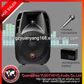 2.0 profesional del altavoz de 15 pulgadas activa, caja de plástico, con el interior de la batería, USB/SD/MP3