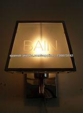 tela de iluminación de la pared con el patrón impreso de sombra blanca/lámparas pantallas de vidrio