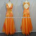 impressionante gd3305 v pescoço appliqued moda vestidos de adolescentes