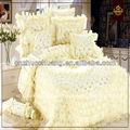 kniting estilo patchwork consolador conjunto con rosas de encaje noble elegancia de