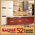 rojo laca gabinete de cocina