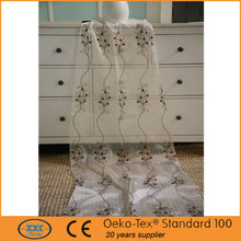 popular diseño de la cinta del bordado con hilo metálico cortinas en árabe