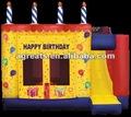 Torta de cumpleaños inflable combo gorila, saltar castillo g3040