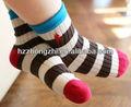 De rayas de colores calcetines de algodón para niños/niños