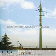 de telecomunicaciones octogonal de acero gsm comunicación monopolo del mástil
