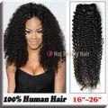 5A rizado rizado extensiones naturales de cabello