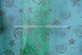 Coloré pour le choix de noël en tissu flocon de neige organza imprimé net tissu d'ameublement