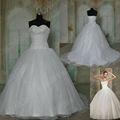 imagem real hy013 frisado organza bola vestido vestido de noiva querida