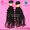 Extensión del pelo rizado negro para las mujeres, exóticos de malasia para el cabello de alta costura