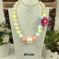 2014Nuevo estilo collar de perla collar de flor para niña