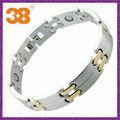 Homens magnéticos de aço inoxidável 2014 última moda pulseira com prata ou ouro alibaba em espanhol