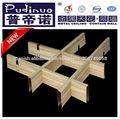 Grano de madera falsos techos desmontables