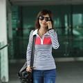 mais recentes estilos de camisas meninas zebra stripe turndown colarinho manga comprida camisas pólo