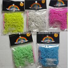 Promoción manualidades 2014 bandas de colores goma elástica para juegos infantiles BRL005