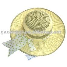 Diseño de moda dama de papel crochet sombrero de papel/vestido de sombrero