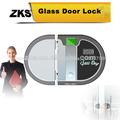 Zks-f1 digital cerradura de la puerta de cristal sin marco de la puerta con led de cristal de líquido dislpay