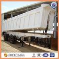 usage industriel des sables de transport 2 essieu remorque de camion à benne basculante