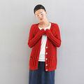 Nuevo 2013 otoño Calidad moda Casual Largo giro rojo de la flor del suéter XB13082924