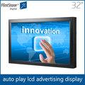 picapiedra kiosco de pantalla táctil 32 pulgadas publicidad led del panel