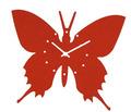 fieltro de moda reloj de pared con diseño de mariposa