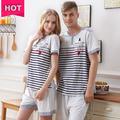 Pyjama en coton couple, pyjama d'été