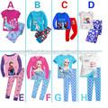 2014 venta caliente populares más chico congelados elsa baratos pijama conjuntos de pijama