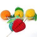 decorativa palito com papel de frutas para a decoração do partido
