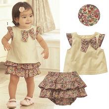 precioso y lindo de chevron venta al por mayor conjunto vestido para las niñas