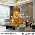 China, del cristal plateado del oro de iluminación de la lámpara