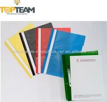 A4 de plástico pp repsentation informe carpetas, informe de clip de la carpeta de archivos para la escuela para la oficina