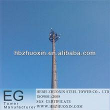 hebei acero zhuoxin telecomunicaciones gsm de microondas del poste del mástil