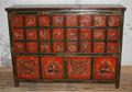 Pintado antigüedades asiáticas Tibetan Furniture Mano
