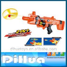 2 1 en bo platillo volador lanzador de dardos de espuma pistola