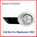 halógenas o led modelo toyota highlander de luz de niebla para 2008 seires