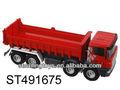 plástico bo caminhão de construção de brinquedo