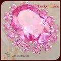 ebay chinas hermosas rosas Kunzita anillos de piedras preciosas al por mayor